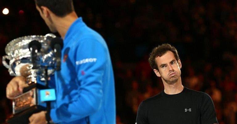 """Andy Murray: Djokovic """"não se tornou num jogador melhor"""" com Boris Becker"""