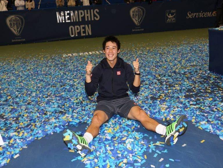 Nishikori conquista o 'tri' e faz história em Memphis