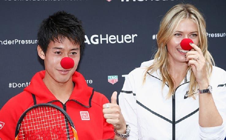 Sharapova convida Nishikori, Roddick, Sock, Keys e Robson para o seu torneio