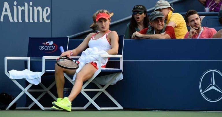 Genie Bouchard cai no balneário e é dúvida para o que resta do US Open