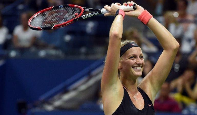 Halep e Kvitova estreiam-se em quartos-de-final no US Open