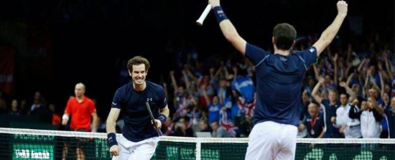 Manos Murray colocam Grã-Bretanha a um passo do título