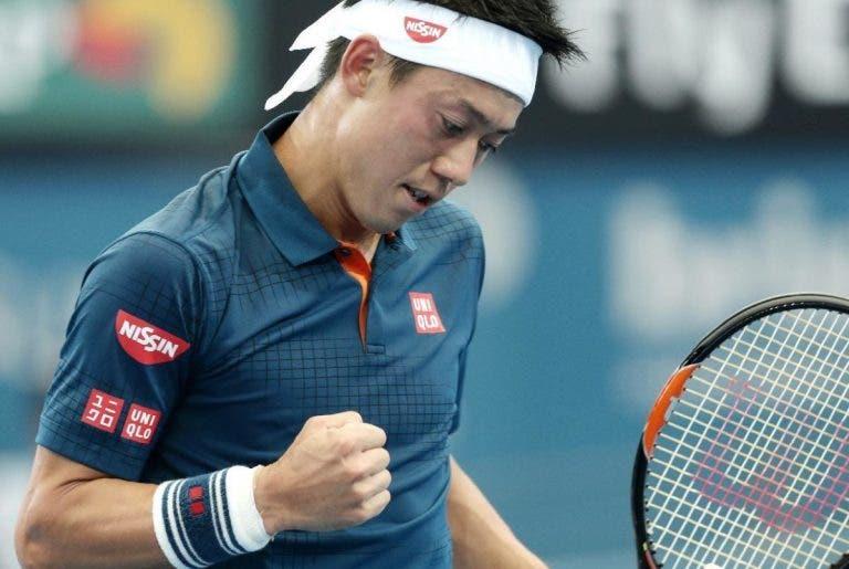 Kei Nishikori também entrou a ganhar em 2016