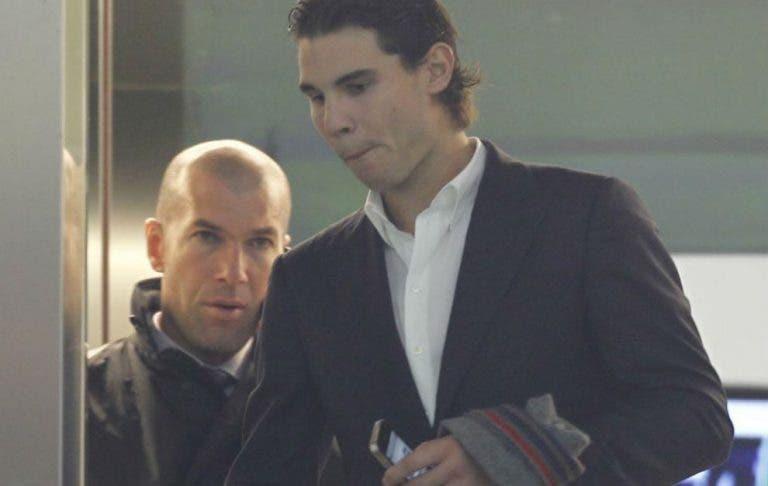Nadal aprova Zidane como treinador do 'seu' Real Madrid