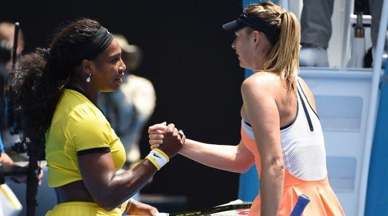 """Serena explica no que é que ela e Sharapova são """"muito parecidas"""""""