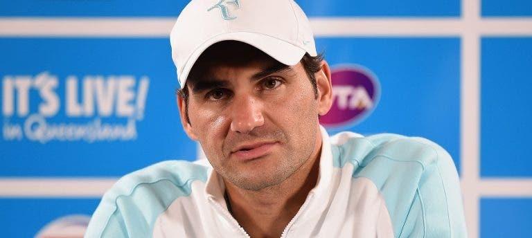 Federer está com febre que apanhou… dos quatro filhos