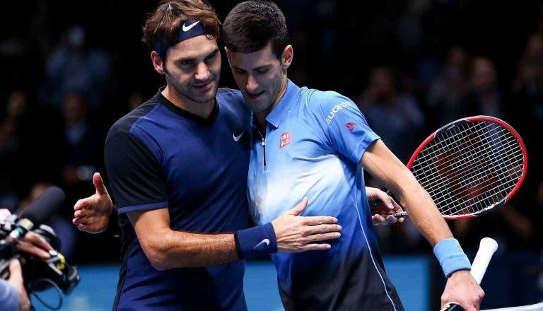 Roger Federer e Novak Djokovic vão jogar pares juntos em setembro
