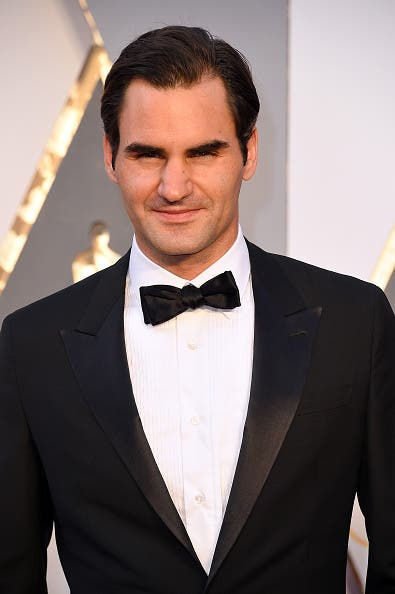 HOLLYWOOD, CA - FEBRUARY 28: Tennis player Roger Federer attends the 88th Annual Academy Awards at Hollywood & Highland Center on February 28, 2016 in Hollywood, California. (Photo by Steve Granitz/WireImage)