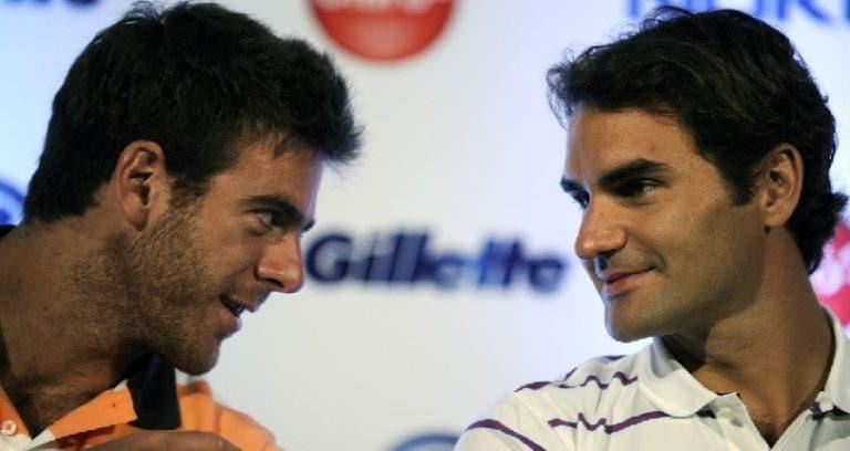 Confirmado: Federer vs Del Potro, sexta-feira, em Miami