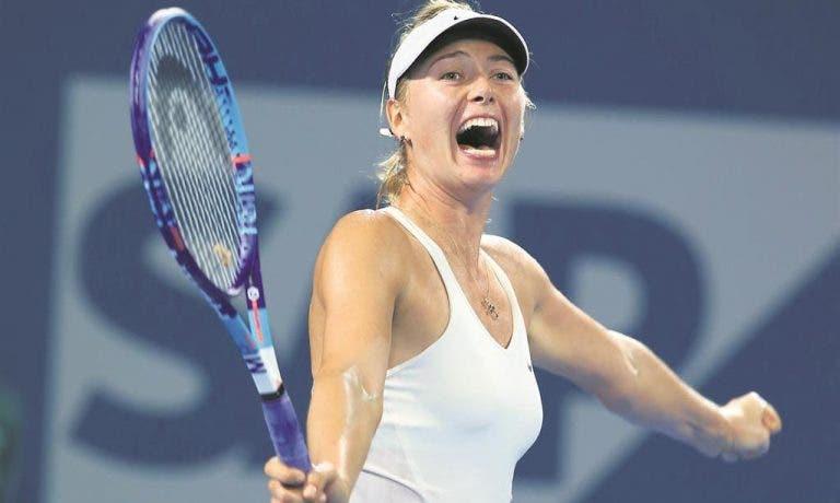 Há uma marca quer prolongar contrato com Sharapova (a sério!)
