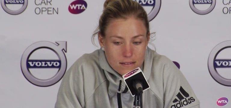 Kerber desiste de Charleston e vai voltar a perder o número dois WTA