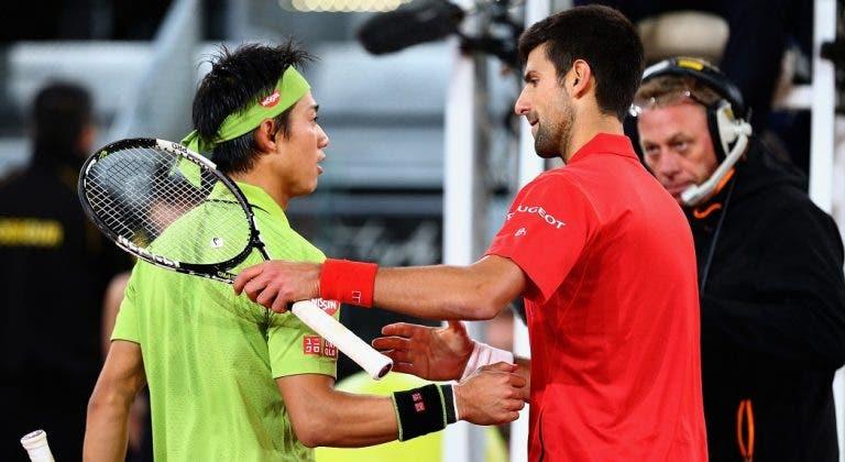 Nishikori: «Defrontar Djokovic tão cedo não é ideal. Já viram o nosso h2h?»