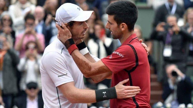 Djokovic elogia o amigo Murray: «Independentemente do seu ranking atual é um grande campeão»