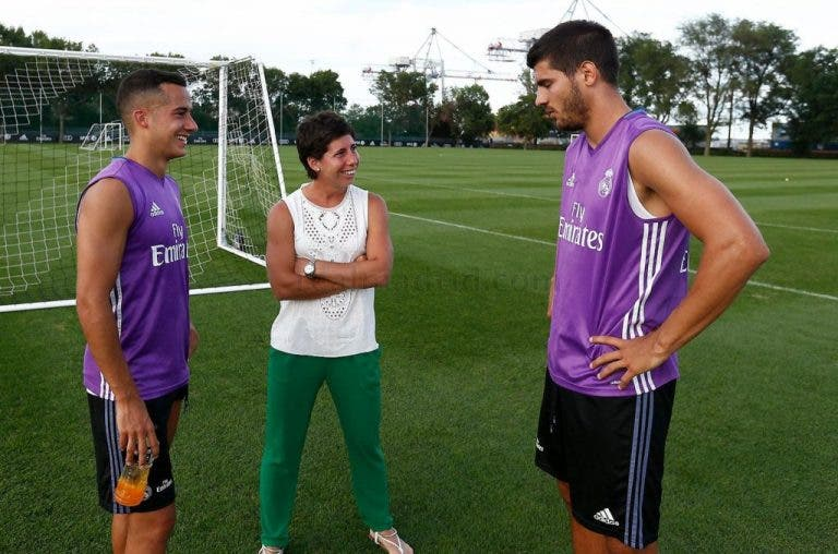 [Fotogaleria] Carla Suárez Navarro visitou o estágio do Real Madrid