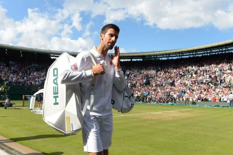 Djokovic sai de Wimbledon como não saía de um Major há sete anos