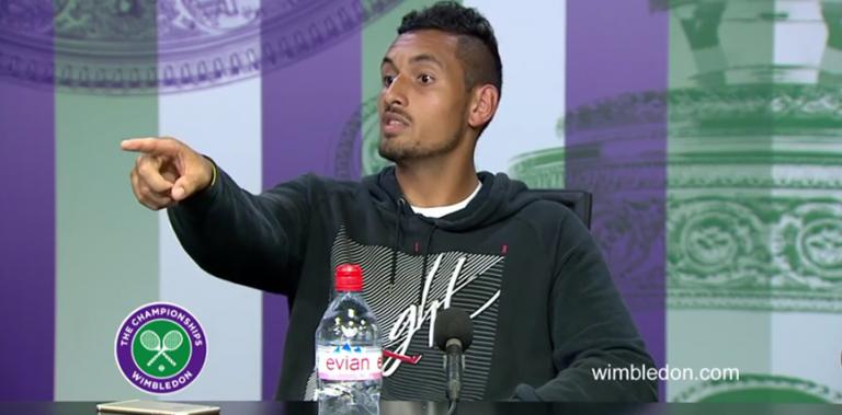 [Com vídeo] Kyrgios envolve-se em acesa discussão com jornalista