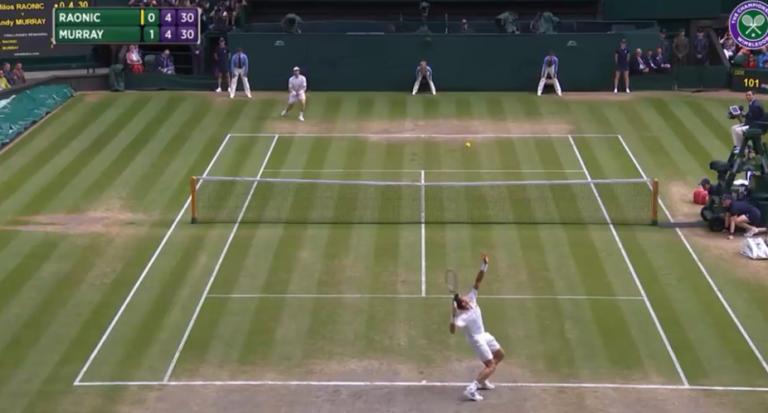[Vídeo] Raonic bate segundo serviço mais rápido de sempre em Wimbledon