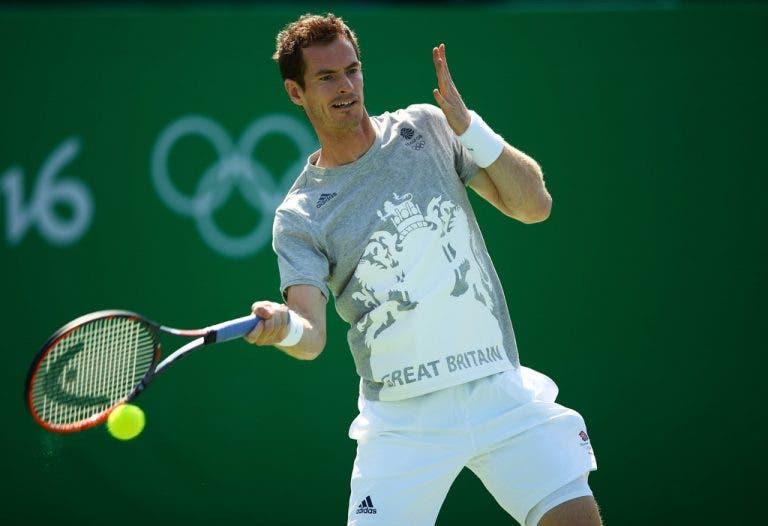 Medalhados de ouro Serena Williams e Andy Murray regressam ao court nesta terça-feira