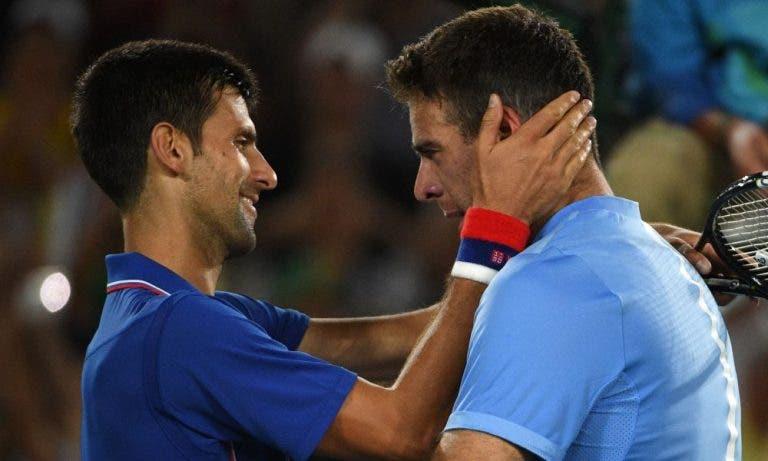 Del Potro: «O Djokovic via-me como um exemplo, falámos muito sobre lesões em 2018»