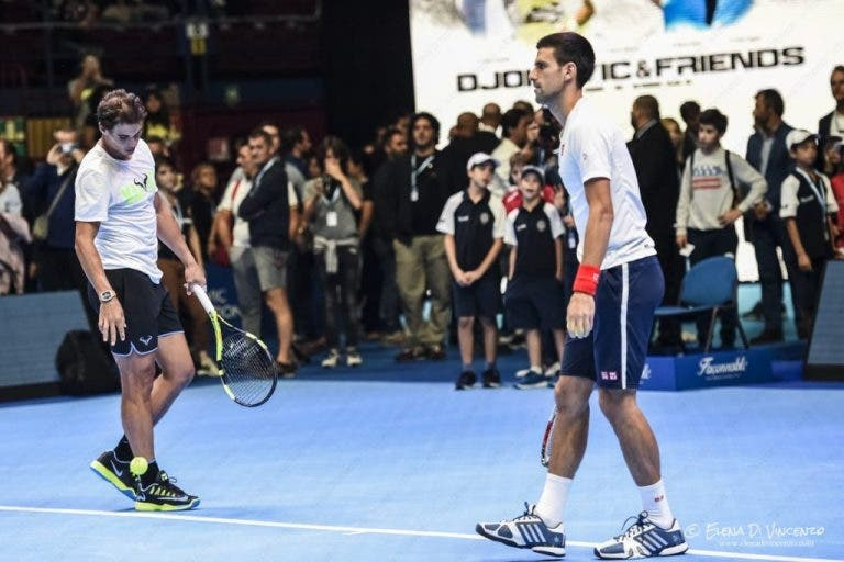 """""""Djokovic e Amigos"""", o evento-exibição que foi uma animação"""