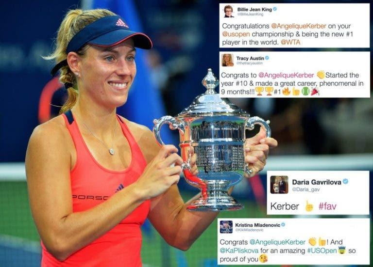 Twitter. As reações à vitória de Kerber no US Open