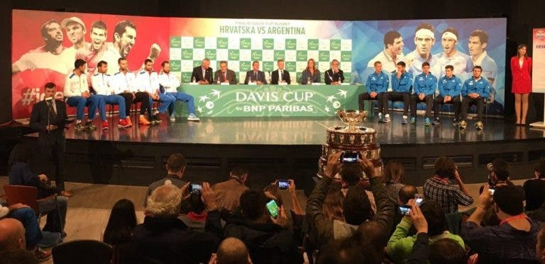 Taça Davis. Conheça o alinhamento da final entre Croácia e Argentina