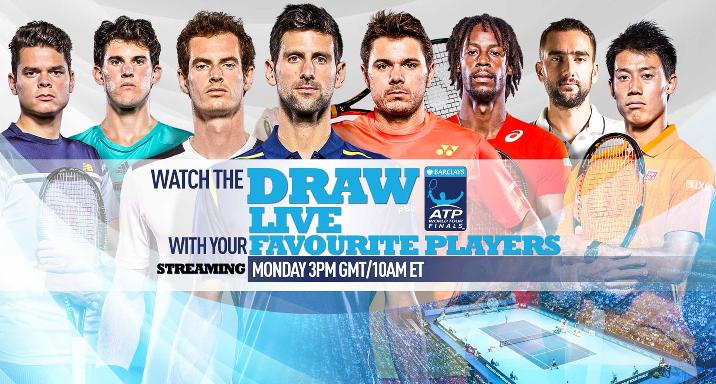 [Vídeo] Acompanhe o sorteio das ATP Finals, em DIRETO