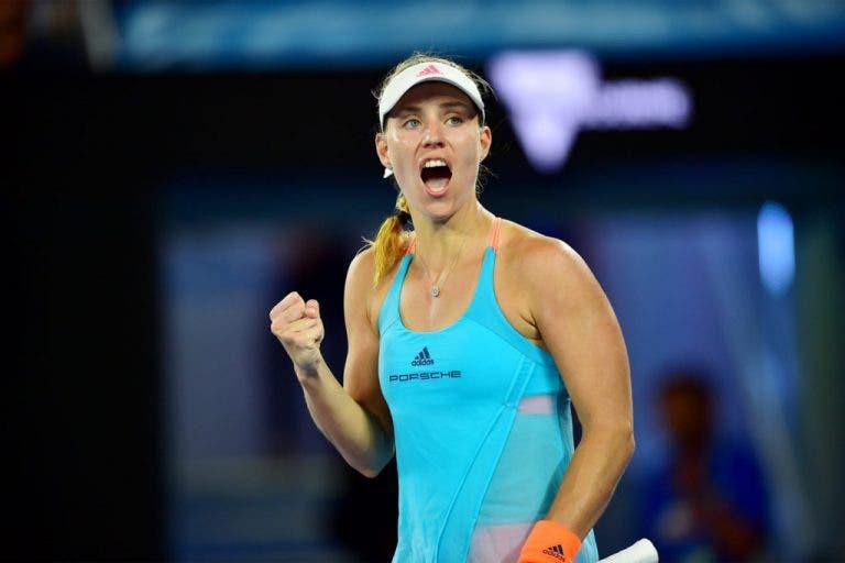 Angelique Kerber treme mas inicia defesa do Open da Austrália com boa vitória