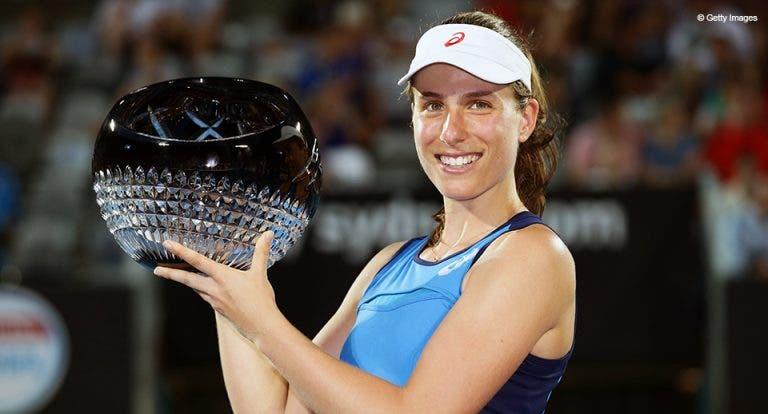 EM GRANDE. Konta arrasa Radwanska e conquista o título em Sydney