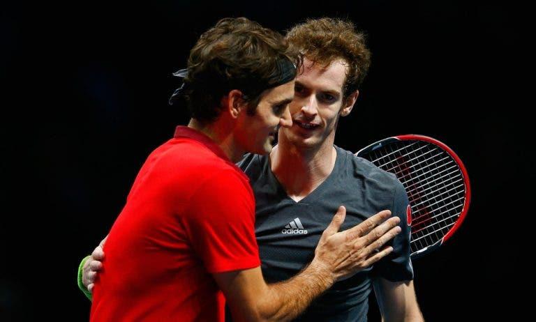 Qual o jogador que Murray gostava mais de treinar? «Federer, ia aprender imenso»