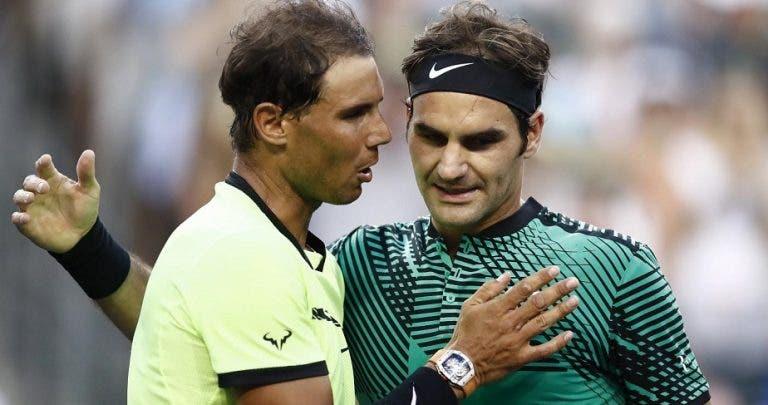 Nadal sobre a ausência de Federer em terra batida: «Não acredito que isso seja um problema, ele tem talento»