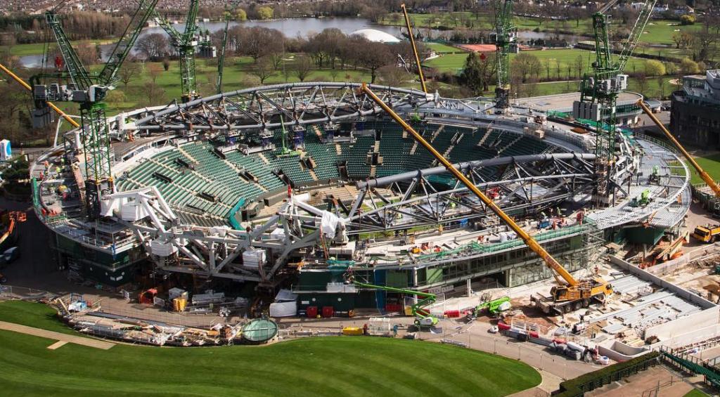 [Foto] Já viu como está o (quase renovado) Court n.º 1 de Wimbledon?