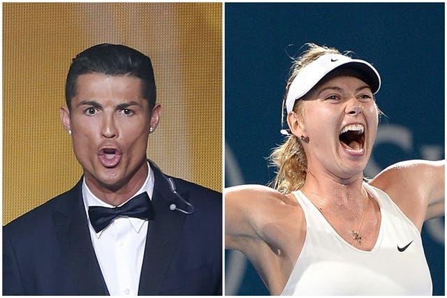 Ronaldo e Sharapova são os desportistas com mais estilo, dizem os portugueses