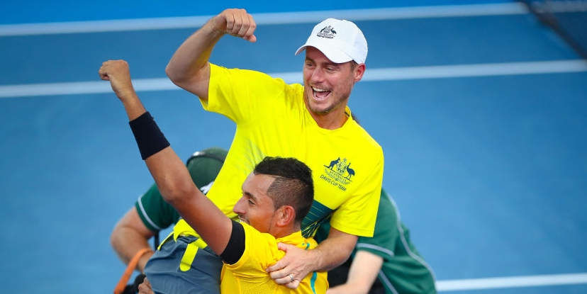 Imparável. Kyrgios joga MUITO e carrega a Austrália às costas rumo às meias-finais da Taça Davis