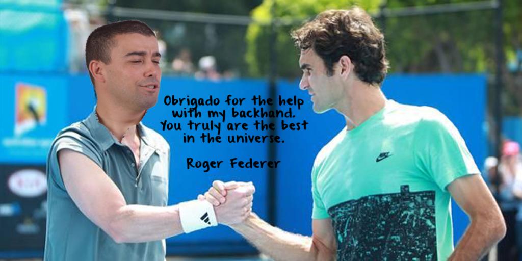 """""""De nada, Federer!"""" – Crónica do melhor jogador do universo, Hugo Rosa"""