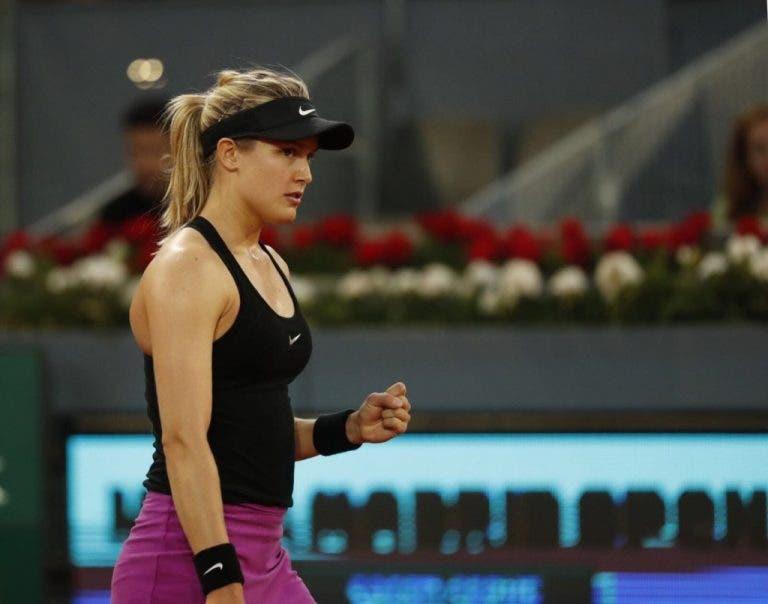 Eugenie Bouchard vence Maria Sharapova após batalha épica na segunda ronda em Madrid