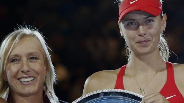 Martina Navratilova: «É tempo de as jogadoras deixarem a Sharapova descansada»