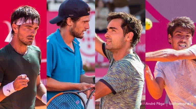INÉDITO! Nunca houve quatro portugueses numa segunda ronda de um torneio ATP