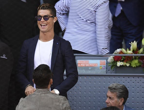 [Fotos] Cristiano Ronaldo marca presença no 50º confronto entre Nadal e Djokovic