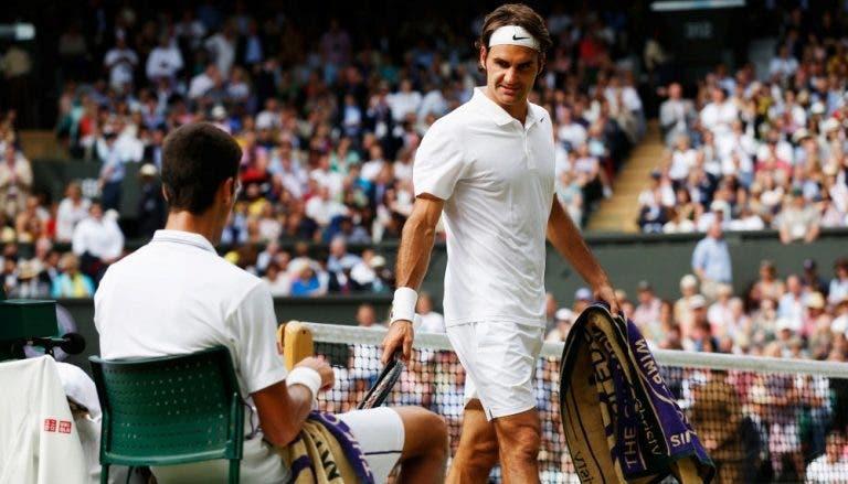Os números de Federer e Djokovic até chegarem à final de Wimbledon