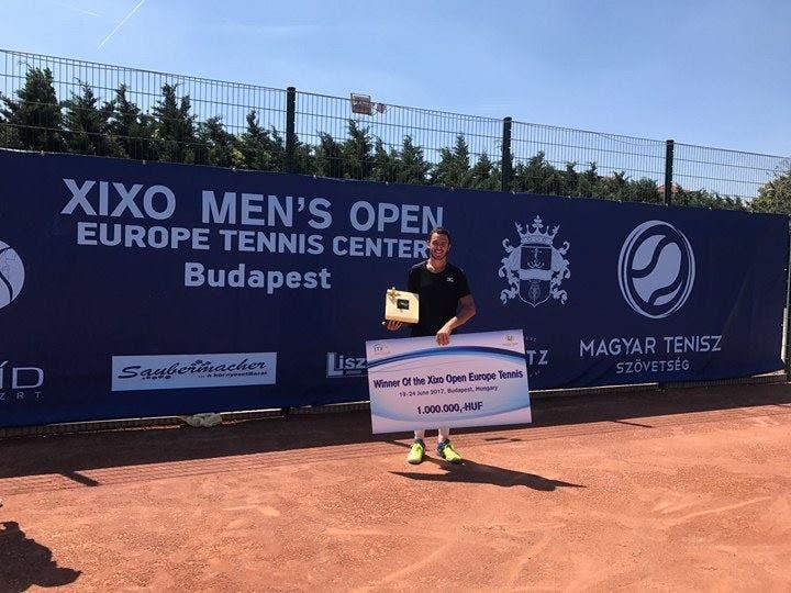 CAMPEÃO. Gonçalo Oliveira termina semana com segundo título do ano em Budapeste