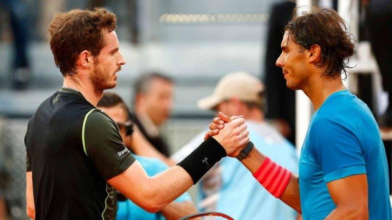 Madrid Open virtual: Nadal vs. Murray abre segundo dia de luxo