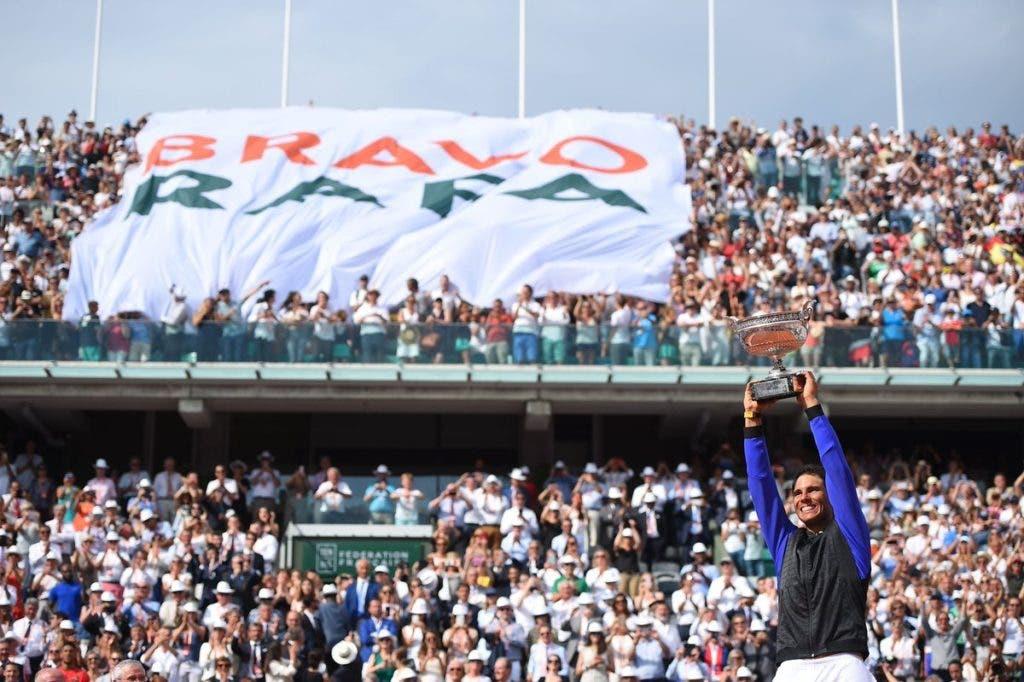 Nadal ganhou quase 3 mil euros por minuto em Roland Garros