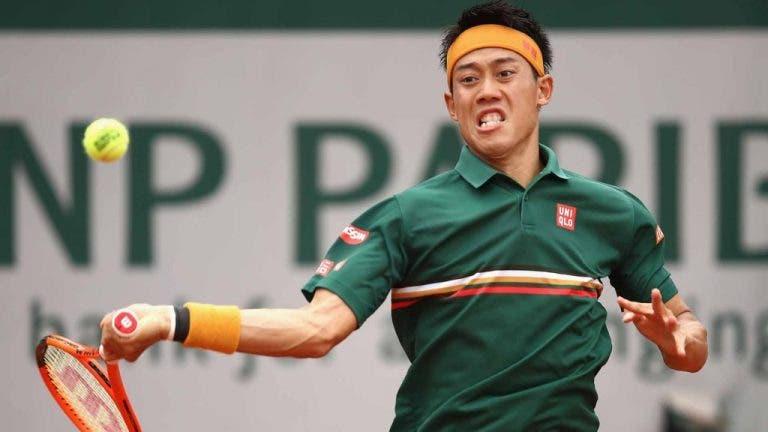 De regresso à competição 5 meses depois, Nishikori é eliminado na estreia no Challenger de Newport Beach