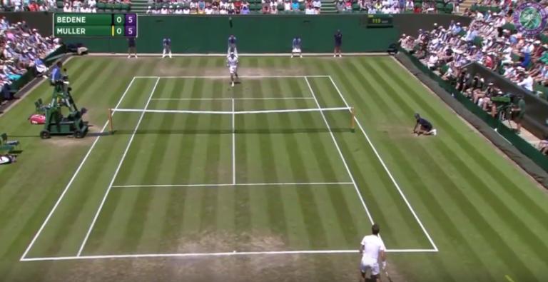 [Vídeo] BOOM. Gilles Muller dispara póquer de ases em Wimbledon