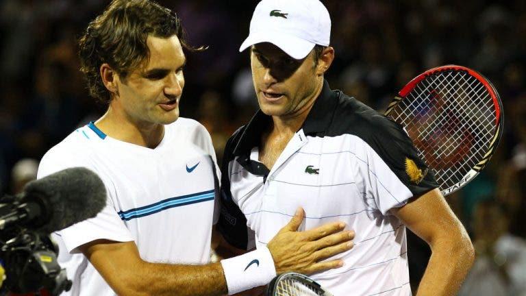 Roddick e o seu dia especial: «A primeira pessoa que me mandou uma mensagem hoje foi Federer. É um ser humano incrível»