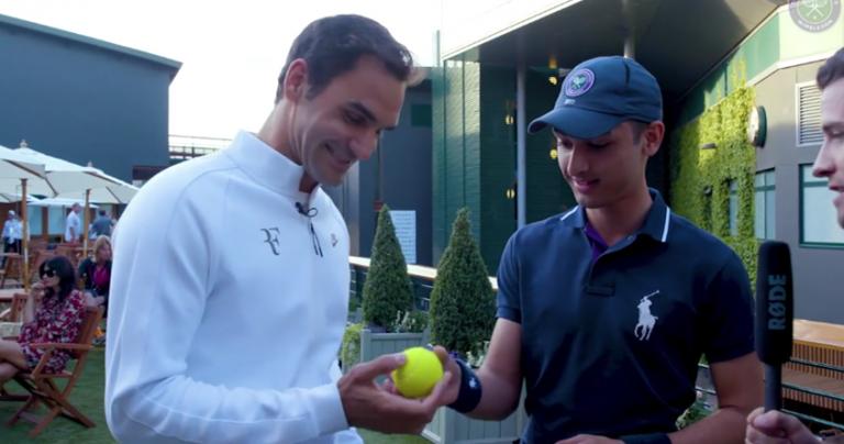 [Vídeo] Federer surpreende jovem que apanhou a bola com que fez o ás 10 mil