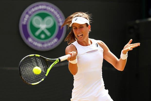 Konta verga Kvitova e está nos 'quartos' em Wimbledon pela 2.ª vez na carreira