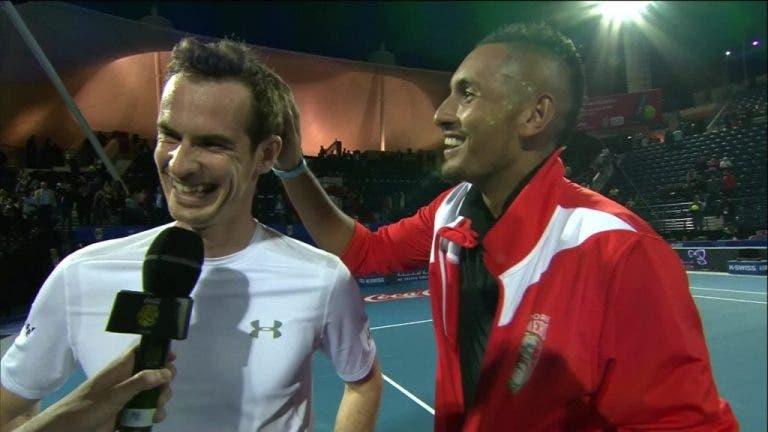 Kyrgios: «Sempre disse ao Murray que ele era muito melhor do que o Djokovic e devia ter melhor carreira do que ele»