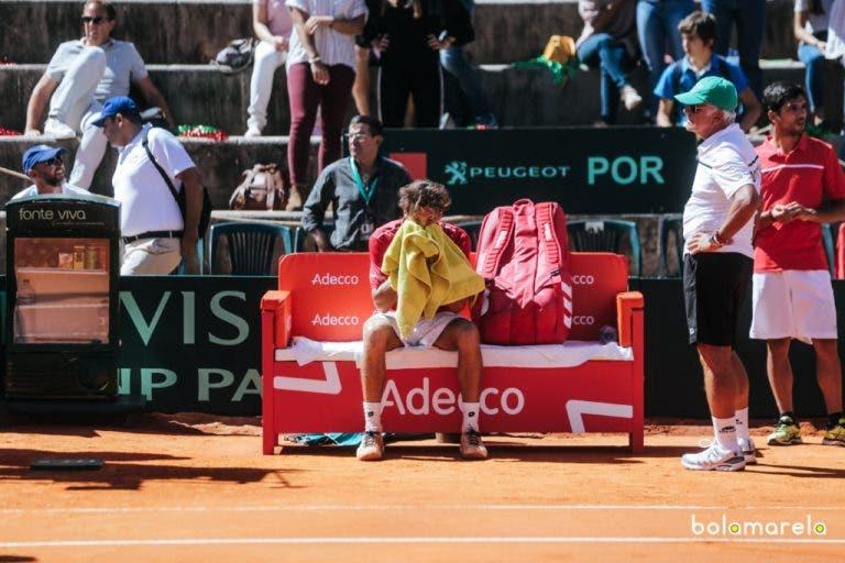 [FOTOS] João Sousa abandona Centralito em lágrimas depois de perder batalha em cinco sets